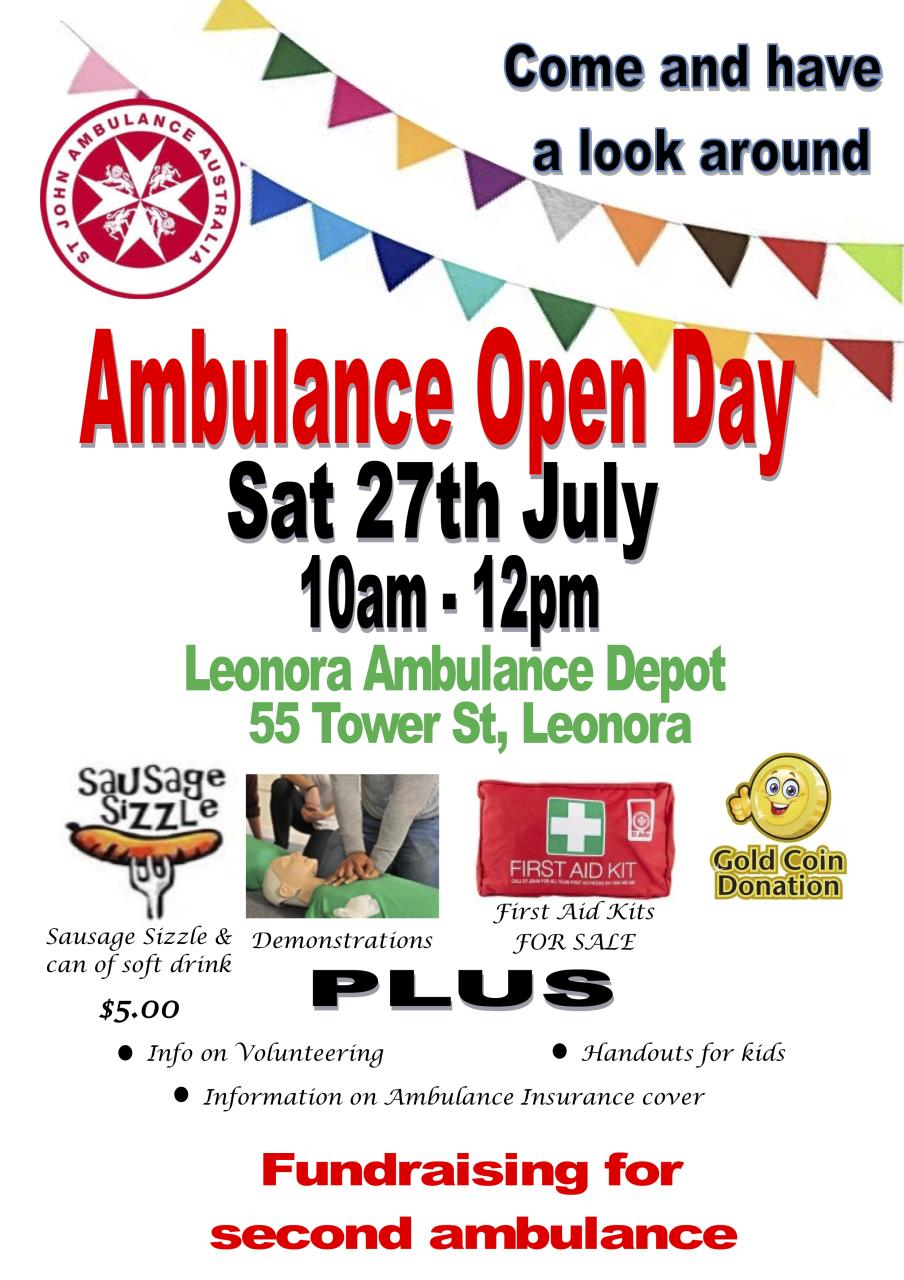 Leonora Ambulance Open Day