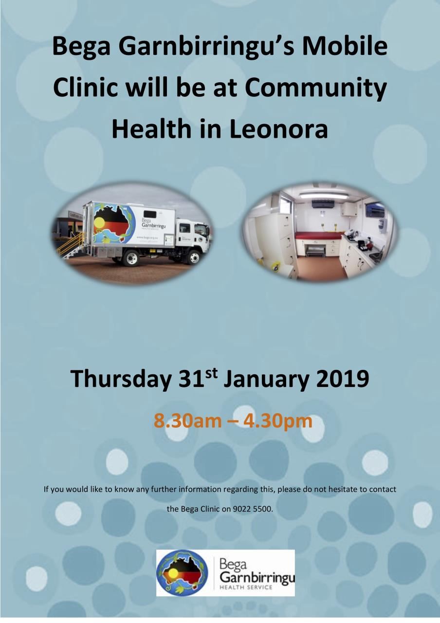 Bega Garnbirringu's Mobile Health Clinic