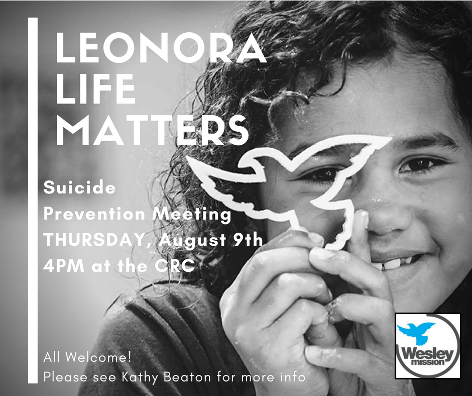 Wesley Mission Leonora Suicide Prevention Meeting